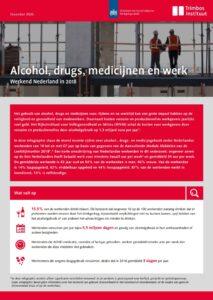 Infographic Alcohol, drugs, medicijnen en werk 2018