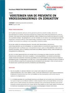 Factsheet versterken preventie en vroegsignalerings- en zorgketen – Verbetering Consultatie en Advieslijn